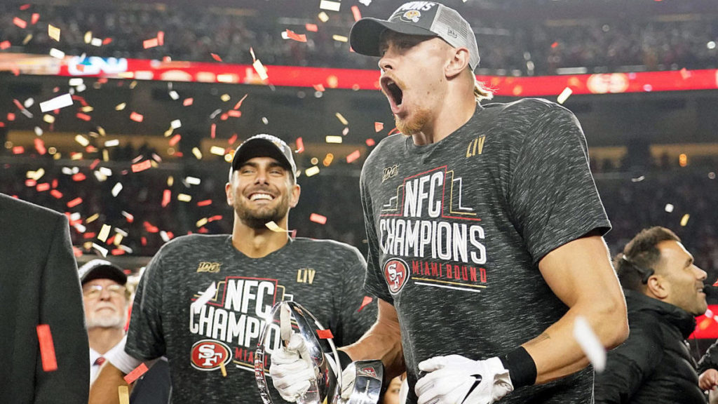 George Kittle and Jimmy Garoppolo