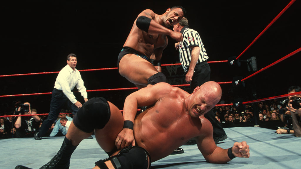 The Rock vs. Stone Cold Steve Austin
